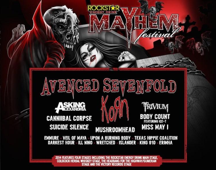 Mayhem Fest Line Up 2014